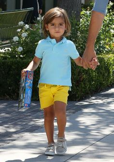Mason Disick showing off his colorful style
