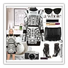 """""""FRINGE LOVE!"""" by zaamla ❤ liked on Polyvore featuring Thierry Mugler, Ivy Kirzhner, Proenza Schouler, Quay and Chanel"""