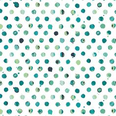 Green and Blue Dot Fabric - Lavish by Katarina Roccella for Art Gallery - Dots Tile Fresco - Fabric By the Half Yard