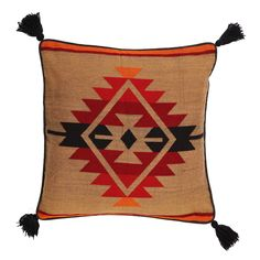 Southwest-Style-Tassled-Throw-Pillow-Covers-18-X-18-El-Paso-Designs