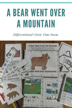 A Bear Went Over the Mountain Speech Language Therapy, Speech And Language, Speech Therapy, Time Poem, Conversation Cards, English Language Learners, Language Arts, School Songs, Simple Sentences
