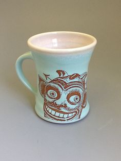 Demon Ceramic Coffee Mug by Oxide Pottery in Lynchburg, Virginia