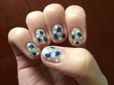 More spring flowers layered with polka dots and glitter. LOVE THEM!