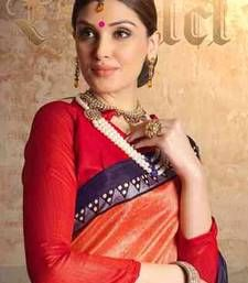 Buy multicolor embroidered silk saree with blouse printed-saree online