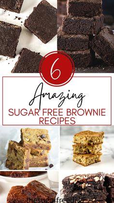 Sugar Free Deserts, Sugar Free Snacks, Sugar Free Baking, Sugar Free Sweets, Low Sugar Recipes, No Sugar Foods, Keto Recipes, Dessert Recipes, Diabetic Recipes