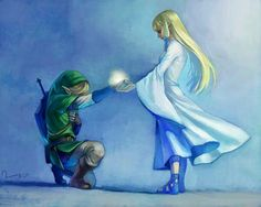 Skyward Sword- Link and Zelda