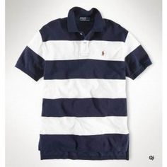 Ralph Lauren Leisure Breathable Cotton Black Red Stripe Polo