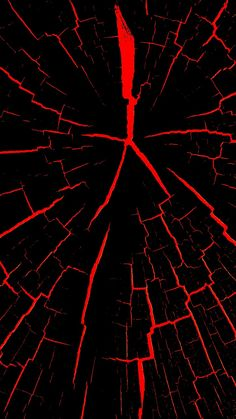Black with Red Cracks Wallpaper