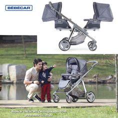 Kinderwagen für Zwillinge und Geschwister - kann auch einzeln verwendet werden. Modell: Bebecar One&Two D240