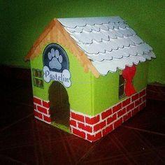 DIY Cardboard Cat House