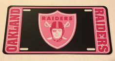 Oakland Raiders NFL Football The Shield Pink Vinyl Decal Car License Plate Black #DiamondDecalz