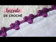 BARRADO DE CROCHÊ DE CORAÇÃO RÁPIDO E FÁCIL #166   PASSO A PASSO - YouTube Crochet Edging Patterns, Crochet Lace Edging, Crochet Flower Tutorial, Crochet Borders, Crochet Flowers, Crochet Cord, Crochet Stitches For Beginners, Diy Crystals, Crochet Jacket