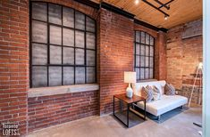 Broadview Lofts-68 Broadview Ave #316 | Rare offering - 1100+ sf 1 bedroom + den authentic brick & beam loft with 10.5 ft high factory wood ceilings, exposed brick walls, large original windows & concrete floors. | More info here: torontolofts.ca/broadview-lofts-lofts-for-sale/68-broadview-ave-316 Exposed Brick Walls, Wood Ceilings, Concrete Floors, Lofts, Beams, Den, Windows, Flooring, The Originals