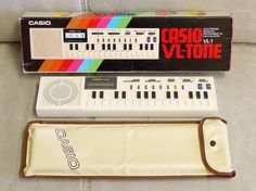 Casio VL-1 VL-Tone. It was the greatest when Dad let me play with it. Orange button was the best button!