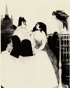 aubrey-beardsley/the-lady-at-the-dressing-table.