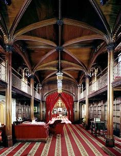 Library in Arundel Castle, Sussex, England                                                                                                                                                     More