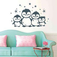 Niedliche Pinguin Familie
