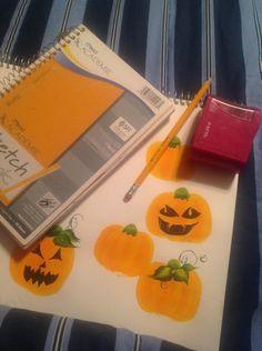 One stroke pumpkins ,