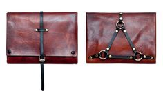 Harness Envelope Clutch By Norisol Ferrari. Kinda kinky.