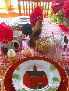 The Little Yellow Corner Store: Breakfast on the Farm Tablescape