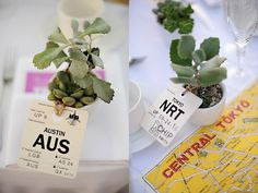 travel tag succulent favors