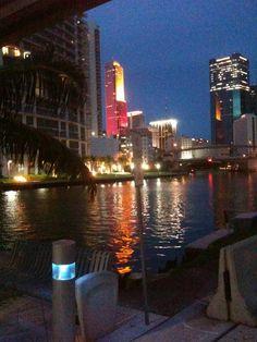 Downtown Miami, along the Miami River via Amplification, Inc. Social Media Marketing Company http://clubcabeza.blogspot.com/