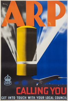 KEELY, Pat Cokayne (?-1970) ARP lithograph in colours, 1938 poster