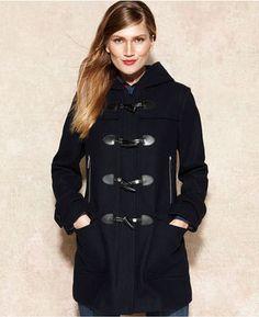 Macy's MICHAEL Michael Kors Coat, Hooded Toggle-Front Duffle on shopstyle.com