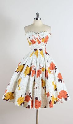 1950's Strapless Dress