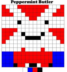Adventure Time - Peppermint Butler. Graph with colour chart.