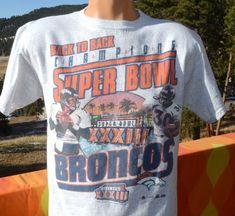 vintage 90s t-shirt denver BRONCOS nfl football superbowl champions Medium  gray 828fc24be