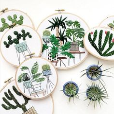 Sarahkbenning - broderie compte instagram - embroidery cactus