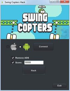 Swing copters Hack Tool No Survey download 4 android, ios, Xbox. Get Swing copters hack ifunbox cheats engine & add infinite coins, score, Remove ADS.