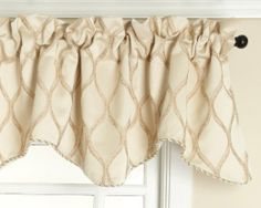 Amazon.com - Renaissance Home Fashion Raven Embroidered Lined Scalloped Valance with Cording, Champagne, 50 by 17-Inch - Window Treatment Va...
