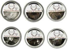 Luxury Gourmet Seasonings, Spices & Italian Black Truffle Sea Salt Collection Gustus Vitae Condiments http://www.amazon.com/dp/B00JXMW23E/ref=cm_sw_r_pi_dp_rr6twb0WY85AW