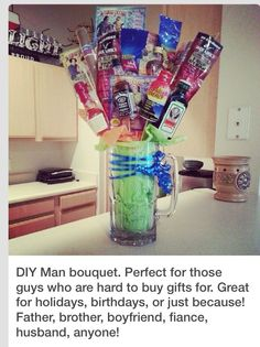 DIY Man Bouquet, Perfect Gift For That Hard To Buy Guy.