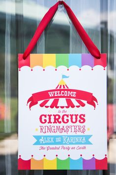 We Heart Parties: Circus Carnival Birthday Party