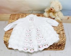 KNITTING PATTERN For Candy Blush Baby Matinee Jacket by ShiFio