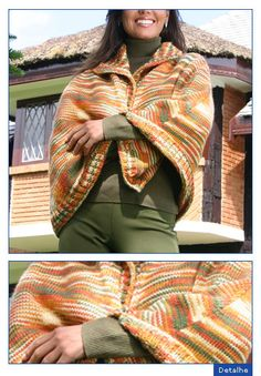 Knitted Shawls, Plaid Scarf, Parka, Knitting, Winter, Accessories, Bolivia, Manual, Alice