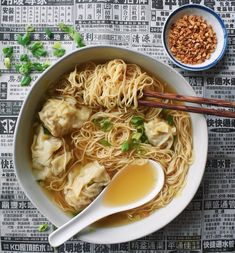 Tapenade without anchovies - Clean Eating Snacks Wonton Noodle Soup, Wonton Noodles, Ramen Noodle Soup, Cooking Wine, Asian Cooking, Wan Tan, Hangover Food, Asian Recipes, Healthy Recipes