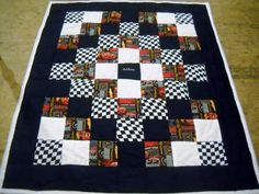 Handmade Disney  CARS Todder-Size Quilt with Matching Quilted Pillow Sham (Personalized Embroidered Name FREE)