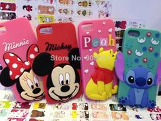 Free shipping 10 pcs/lot Minnie Mouse Mickey Pooh Stitch cell phone case for iphone 5g cases cover $40.99.http://www.aliexpress.com/store/908361