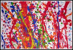 Jackson Pollock-Splatter paint - Although this is a Jackson Pollock piece, it's still a great idea and a fun way to paint with your kids!