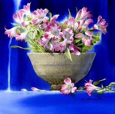 Корейский акварелист Shin Jong Sik. Цветы акварелью. Девятые