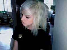 The short hair is given the standard bob look with side swept bangs. The short Emo hairstyle engaged a prickly and a short cut along very lengthy bangs. Short Emo hairstyles look is a. Short Emo Hair, Short Hair Cuts, Short Hair Styles, Emo Haircuts, Scene Haircuts, Hairstyle Look, Cute Hairstyles, Hairstyle Short, Emo Scene Hair