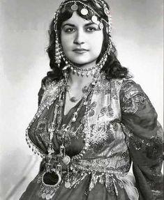 Beautiful Kurdish Woman in her traditional Dress, 1970s.