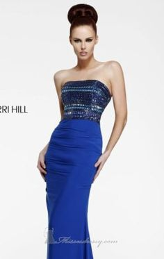 Strapless Long Gown by Sherri Hill 11033