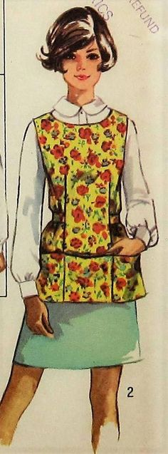 Vintage Apron Sewing Pattern UNCUT Simplicity 8563 Sizes 16-18