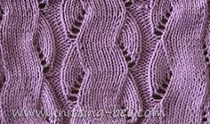 knit cable patterns | Mock cable stitch, the illusion of cables without the bumps.