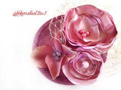 Retro Fascinator  Minihütchen *LISA*  Kopfschmuck von Lebenslust2in1 auf DaWanda.com